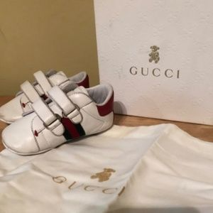 GUCCI Unisex Baby Sneakers Rosso Size 17 ( 1.5 )